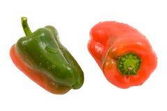 Dos pimientas miniatura Fotos de archivo