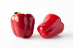 Dos pimientas rojas dulces Foto de archivo libre de regalías