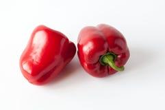 Dos pimientas rojas dulces Fotografía de archivo libre de regalías