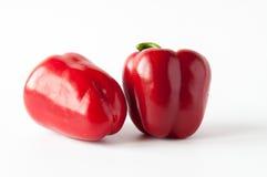 Dos pimientas rojas dulces Imágenes de archivo libres de regalías