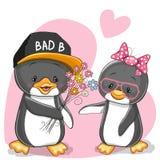 Dos pingüinos ilustración del vector
