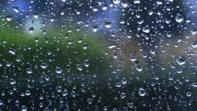 Dos pingos de chuva para-brisa para baixo filme