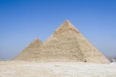 Dos pirámides Fotografía de archivo libre de regalías