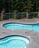 Dos piscinas de los resortes calientes Imágenes de archivo libres de regalías