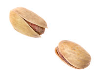 Dos pistachioes Fotografía de archivo libre de regalías