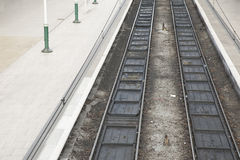 Dos pistas ferroviarias Imagen de archivo libre de regalías