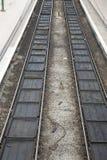 Dos pistas ferroviarias Fotos de archivo libres de regalías