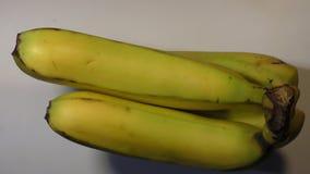 Dos plátanos que giran en la base blanca almacen de metraje de vídeo