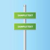 Dos placas del camino del vector (muestras) Imágenes de archivo libres de regalías