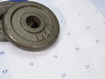 dos placas del peso imagenes de archivo