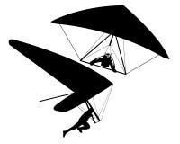 Dos planeadores de caída Fotografía de archivo