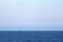 Dos plataformas petroleras Fotografía de archivo libre de regalías