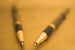 Dos plumas elegantes Foto de archivo libre de regalías