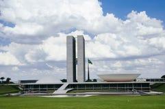 DOS Poderes Brasilia för Palà ¡ cio Royaltyfri Foto