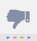 Dos polegares ícones do granito para baixo - ilustração stock
