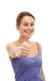 Dos polegares adolescente acima - que mostra o sucesso Imagem de Stock Royalty Free