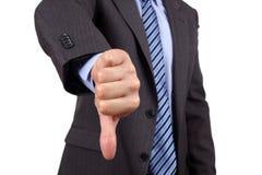 Dos polegares gesto de mão para baixo Imagens de Stock Royalty Free
