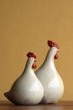 Dos pollos Foto de archivo