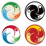 Dos povos logotipo junto Imagens de Stock