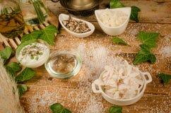 Dos produtos naturais dos ingredientes vida ainda Imagem de Stock Royalty Free