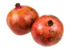 Dos promegranates Imagen de archivo libre de regalías