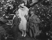 Dos propuestas de matrimonio Foto de archivo libre de regalías