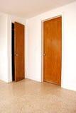 Dos puertas una entornadas Fotos de archivo libres de regalías