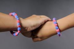 Dos pulseras Foto de archivo libre de regalías