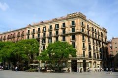 Dos puntos ciudad vieja de Barcelona, Barcelona del hotel, España Fotografía de archivo libre de regalías