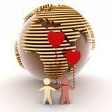 Dos que bajan en amor Imágenes de archivo libres de regalías