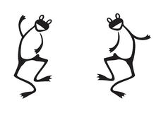 Dos ranas divertidas Fotos de archivo libres de regalías