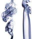 Dos rastros del humo Imágenes de archivo libres de regalías