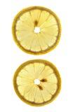 Dos rebanadas de limón Fotografía de archivo libre de regalías