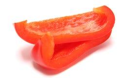 Dos rebanadas de pimienta Fotos de archivo libres de regalías