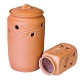 Dos recipientes de la arcilla Imagen de archivo libre de regalías