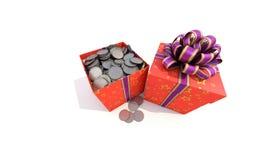 Dos rectángulos de regalo Imágenes de archivo libres de regalías