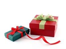 Dos rectángulos de regalo Fotos de archivo libres de regalías