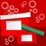 Dos rectángulos de regalo de día de fiesta Imagenes de archivo