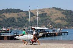Dos Reis и Ilha Angra большие туристские назначения в Рио-де-Жанейро Стоковое фото RF