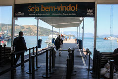 Dos Reis и Ilha Angra большие туристские назначения в Рио-де-Жанейро Стоковое Фото