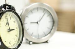 Dos relojes de alarma Foto de archivo libre de regalías