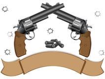 Dos revólveres Fotografía de archivo libre de regalías
