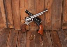 Dos revólveres Foto de archivo libre de regalías