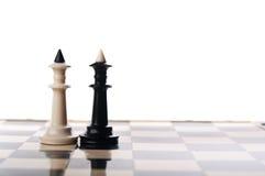 Dos reyes del ajedrez Imágenes de archivo libres de regalías