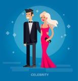 Dos ricos y celebridades hermosas libre illustration