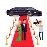 Dos ricos y celebridades hermosas ilustración del vector