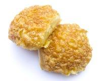 Dos rodillos rematados con queso del meldet Imagen de archivo libre de regalías