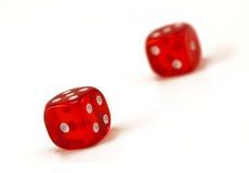 Dos rojos, brillante, transparente corta en cuadritos. Fotografía de archivo libre de regalías
