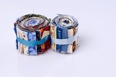 Dos rollos de telas Imágenes de archivo libres de regalías