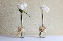 Dos rosas blancas Imágenes de archivo libres de regalías